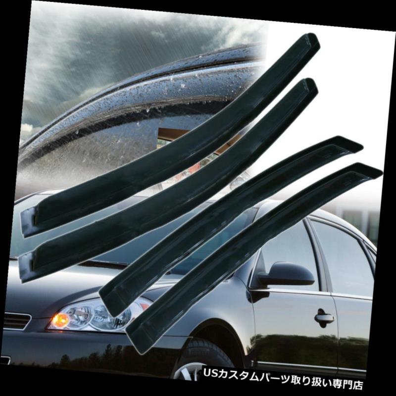 ベントバイザー ドアバイザー レインガード ウィンドウバイザーレインガードシールドデフレクターベントシェードfor Chevy Impala 06-13 US Window Visors Rain Guard Sheild Deflectors Vent Shade for Chevy Impala 06-13 US