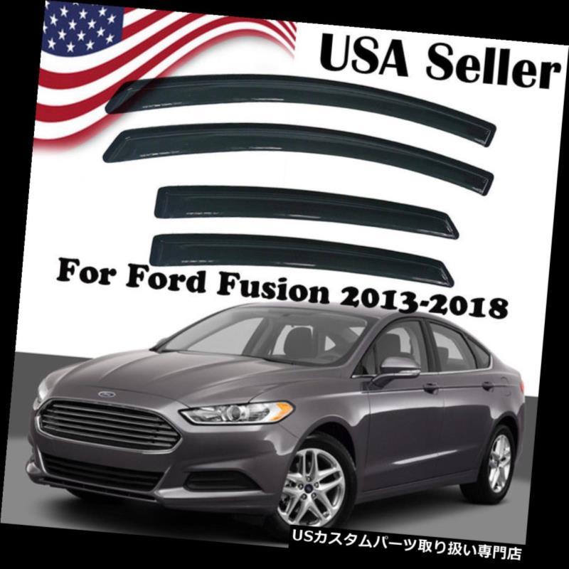 ベントバイザー ドアバイザー レインガード 2013-2017 2018フォードフュージョンのための新しいレインガードスモークベントデフレクターウィンドウバイザー New Rain Guard Smoke Vent Deflector Window Visors For 2013-2017 2018 Ford Fusion