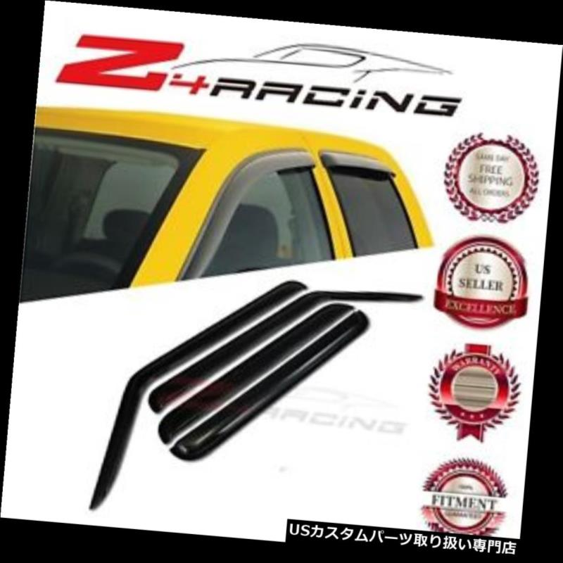 ベントバイザー ドアバイザー レインガード 2006-2010用ジープコマンダーベントシェードガードウィンドウバイザーデフレクタースモーク4PC For 2006-2010 Jeep Commander Vent Shade Guard Window Visors Deflector Smoke 4PC