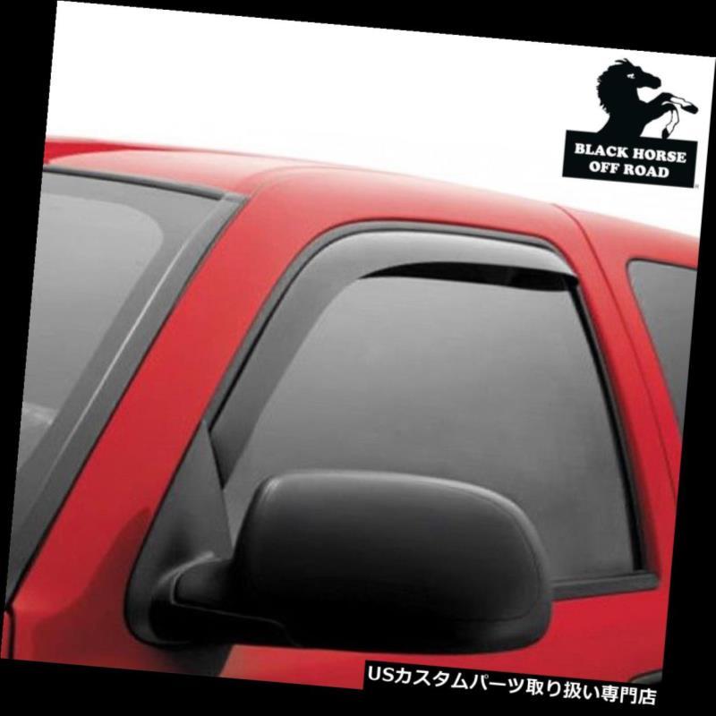 Black Horse Smoke Vent Shade Visors Rain Guards for 14 17 Toyota Highlander SET