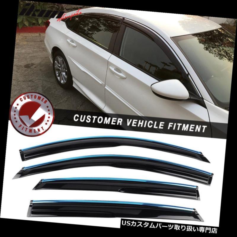 Auto Ventshade 794010 Low Profile Ventvisor Side Window Deflector with Chrome Trim 4-Piece Set for 2003-2007 Honda Accord