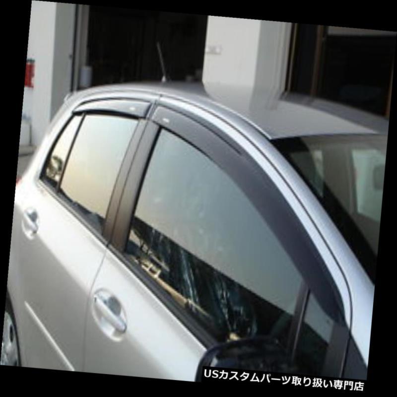 ベントバイザー ドアバイザー レインガード トヨタヤリス5ドアハッチバック用ドア窓とバイザー用ウェザーガード2006-2012 DOOR WINDOW VENT VISOR WEATHER GUARD FOR TOYOTA YARIS 5DOOR HATCHBACK 2006-2012