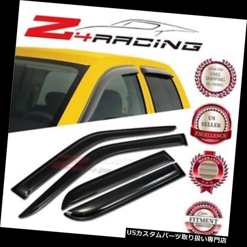 ベントバイザー ドアバイザー レインガード 90-95トヨタ4ランナーベントシェードガードウィンドウバイザーデフレクタースモーク4PC For 90-95 Toyota 4Runner Vent Shade Guard Window Visors Deflector Smoke 4PC