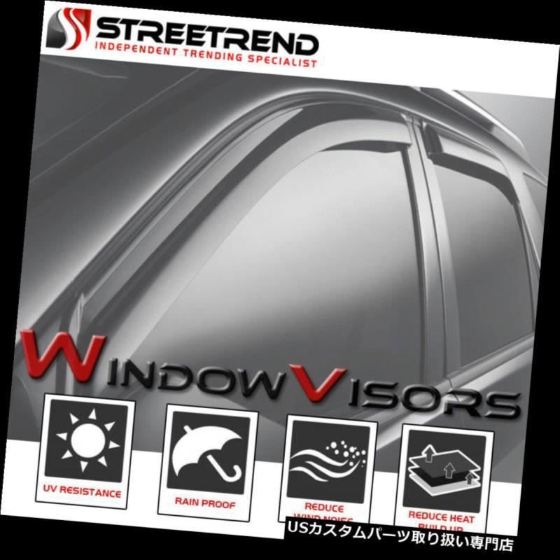 ベントバイザー ドアバイザー レインガード サン/レイン/ウィンドガードシェードディフレクターウィンドウバイザー2000-2006タホ/ユーコン4ドア Sun/Rain/Wind Guard Shade Deflectors Window Visors 2000-2006 Tahoe/Yukon 4 Door