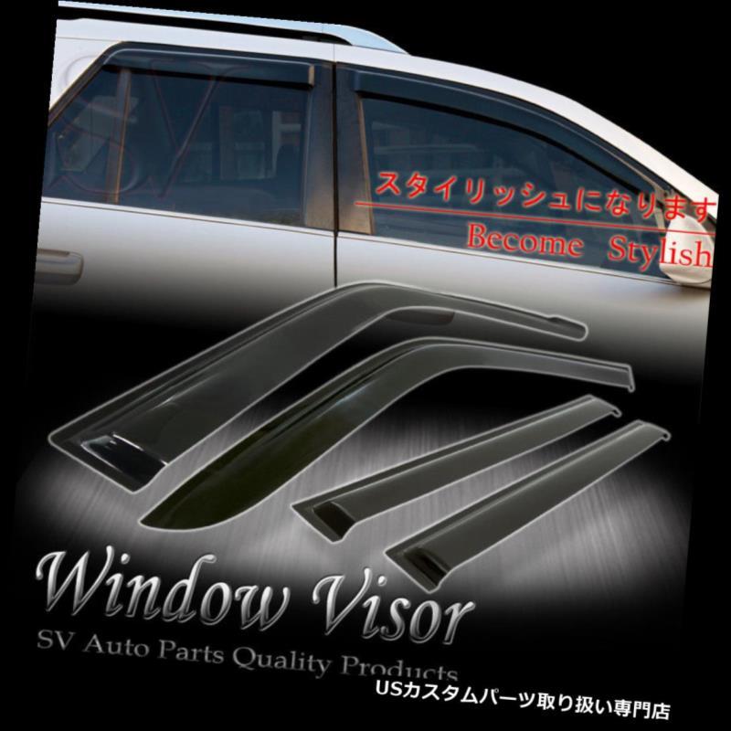 ベントバイザー ドアバイザー レインガード 煙の窓とバイザーの窓風の雨日差しの影響を受けやすいデフレクターTAHOE / ESCALADE 00-06 SMOKE WINDOW VENT VISORS WIND RAIN SUN SHADE DEFLECTOR TAHOE/ESCALADE 00-06