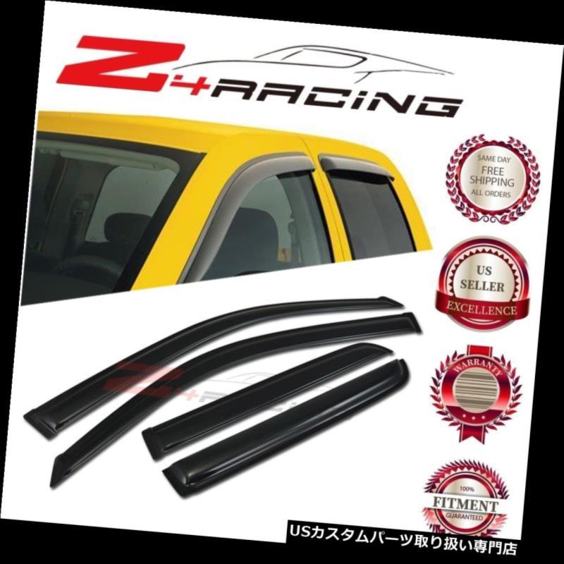 ベントバイザー ドアバイザー レインガード 2003-2009トヨタ4ランナーベントシェードガードウィンドウバイザーデフレクタースモーク4PC For 2003-2009 Toyota 4Runner Vent Shade Guard Window Visors Deflector Smoke 4PC