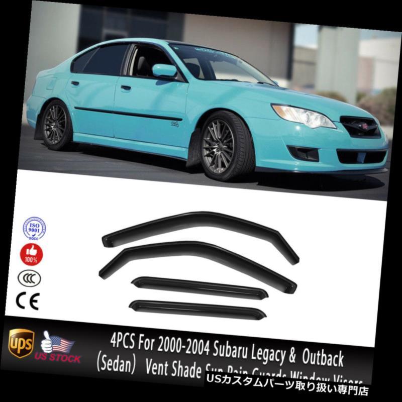ベントバイザー ドアバイザー レインガード 00-04スバルレガシィ/アウトバックセダンベントシェードウィンドウバイザーデフレクタ用4PCS 4PCS For 00-04 Subaru Legacy / Outback Sedan Vent Shade Window Visors Deflectors