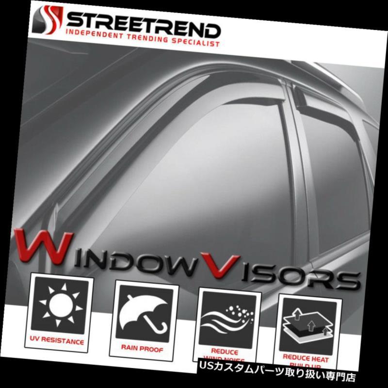 ベントバイザー ドアバイザー レインガード 94-97ホンダアコード4Drのための日曜日/雨/風防シェードディフレクターウィンドウバイザー4Pc Sun/Rain/Wind Guard Shade Deflector Window Visors 4Pc For 94-97 Honda Accord 4Dr