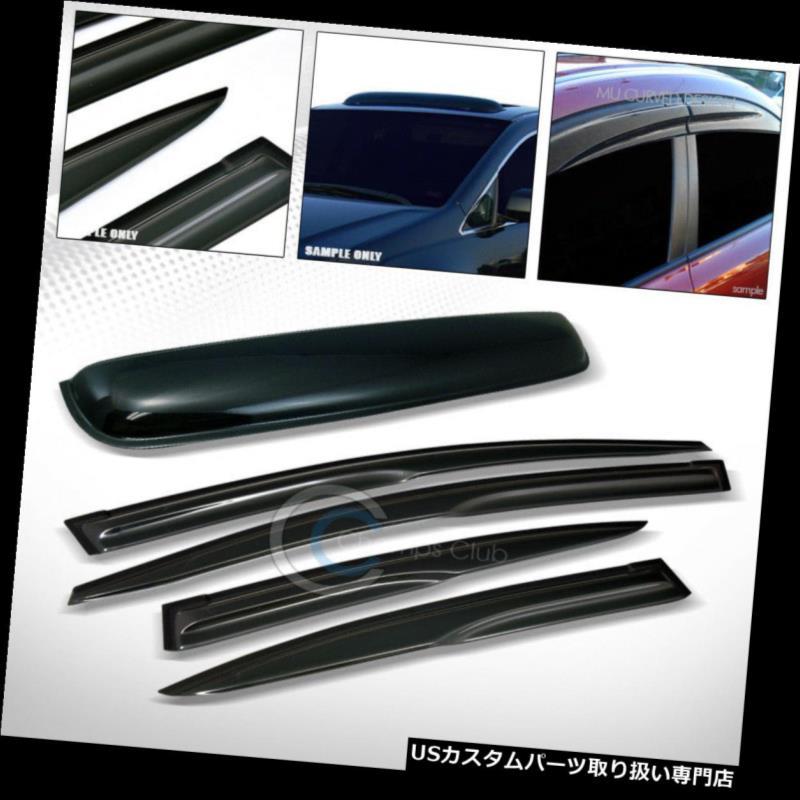 ベントバイザー ドアバイザー レインガード フィット12-15ホンダシビックセダンMUタイプシェードベントウィンドウバイザー+ Moonroo  fルーフガード Fit 12-15 Honda Civic Sedan MU Type Shade Vent Window Visors+Moonroof Roof Guard