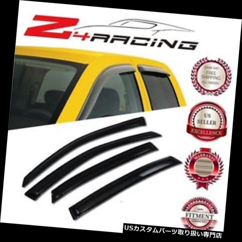 ベントバイザー ドアバイザー レインガード 00-05シボレーインパラベントシェードガードウィンドウバイザーデフレクタースモーク4PC用 For 00-05 Chevrolet Impala Vent Shade Guard Window Visors Deflector Smoke 4PC