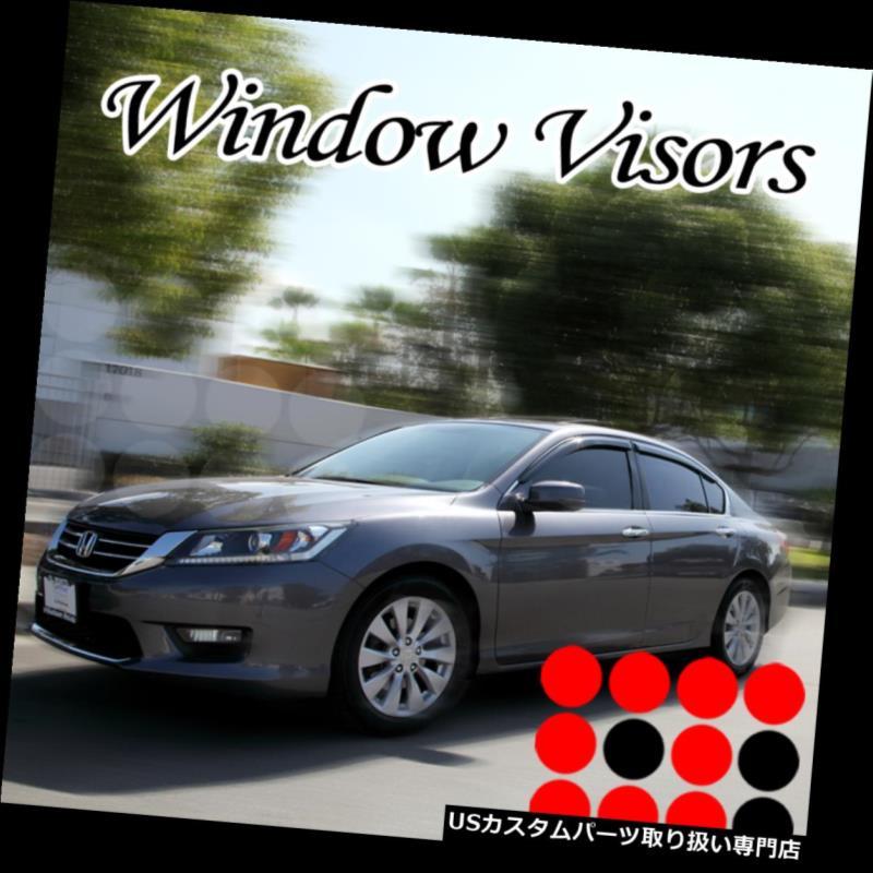 WELLvisors Window Visors For Honda Accord 98-02 4D Wind Rain Guards Deflectors