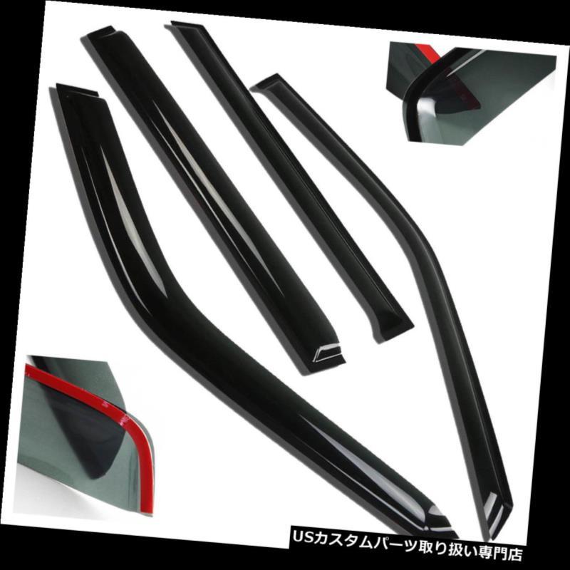 ベントバイザー ドアバイザー レインガード 01スズキグランドビターラ/ 02-06 XL-7サン/レイン/ウィンドベントデフレクターウィンドウバイザー用 For 01 Suzuki Grand Vitara/02-06 XL-7 Sun/Rain/Wind Vent Deflector Window Visors