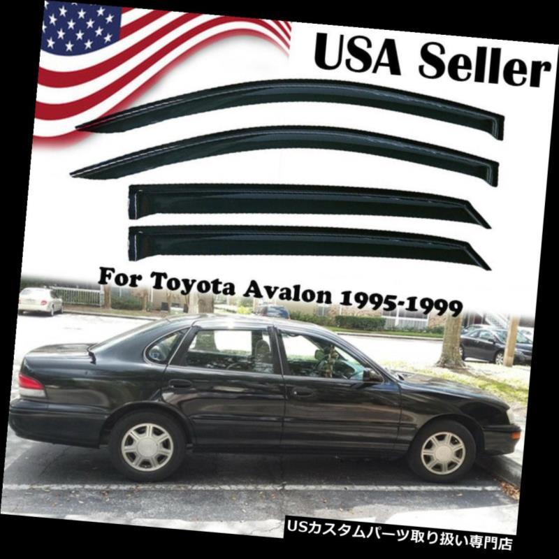 ベントバイザー ドアバイザー レインガード トヨタアバロン1995-1999 1998年のための窓のバイザーの出口の雨ガードの風のデフレクタ Window Visors Vent Rain Guard Wind Deflectors For Toyota Avalon 1995-1999 1998
