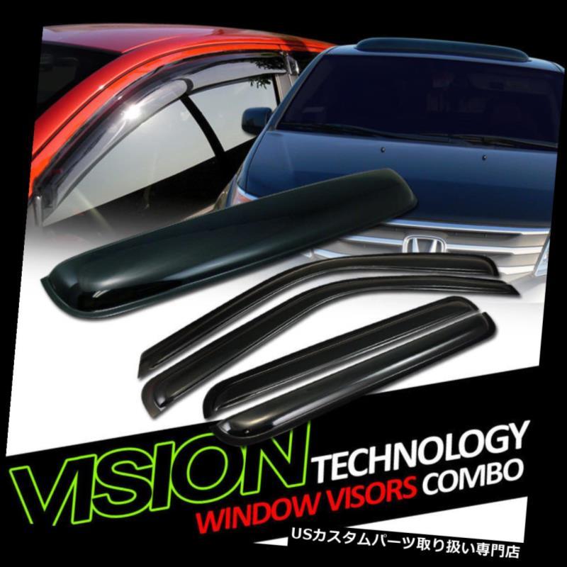 ベントバイザー ドアバイザー レインガード サンレインウィンドベントウィンドウバイザー+ Moonroo  fルーフデフレクター92-00シボレー/ Gmc C / K C10 Sun Rain Wind Vent Window Visors+Moonroof Roof Deflector 92-00 Chevy/Gmc C/K C10