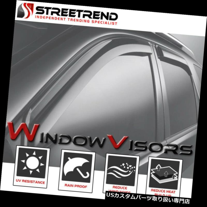 4 Door Window Visor Rain Sun Guard Vent Shade for 2007-2011 2010 Toyota Camry