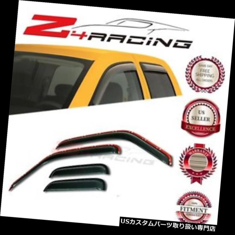 ベントバイザー ドアバイザー レインガード 93-11フォードレンジャー/ 94-09マツダインチャネルベントサイドウィンドウバイザーデフレクター用 For 93-11 Ford Ranger/94-09 Mazda In-Channel Vent Side Window Visors Deflector