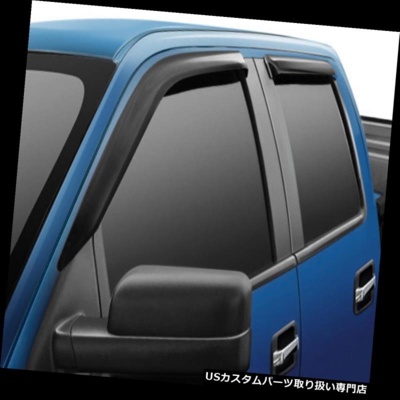 ベントバイザー ドアバイザー レインガード 2015-2018シボレーシルバラードHD 2500/3500クルーキャブスリムテープオンベントバイザー 2015-2018 Chevrolet Silverado HD 2500/3500 Crew Cab Slim Tape-on Vent Visors
