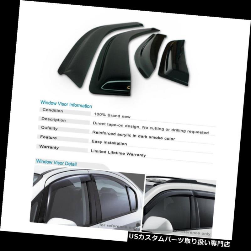 ベントバイザー ドアバイザー レインガード Kia Sorento 11 12 13 15用サイドUVシェードウィンドウバイザーサンウィンドレインガード Side UV Shade Window Visor Sun Wind Rain Guard For Kia Sorento 11 12 13 15