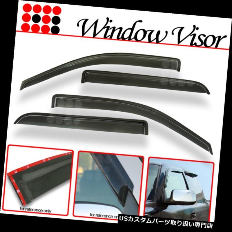 JDM Visor Deflector 4pcs Out-Channel Rain Guard For Toyota Yaris 4DR Sedan 07-12