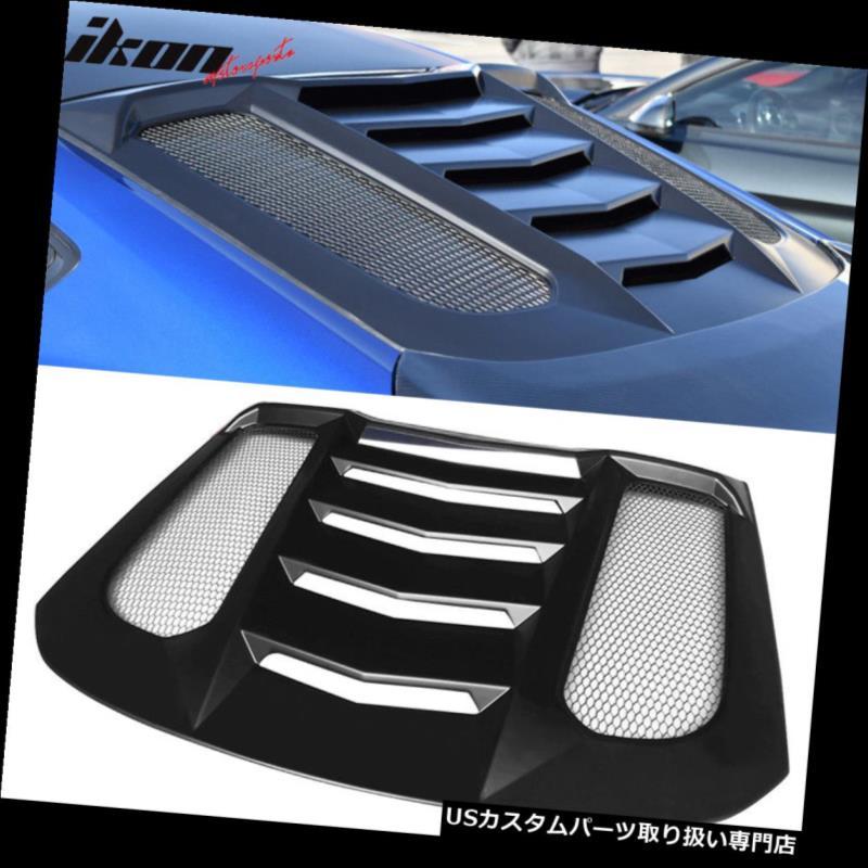 ベントバイザー ドアバイザー レインガード 15-18フォードマスタングIKON V2スタイルウィンドウルーバーバイザーガード - ABSに適合 Fits 15-18 Ford Mustang IKON V2 Style Window Louver Visors Guards - ABS