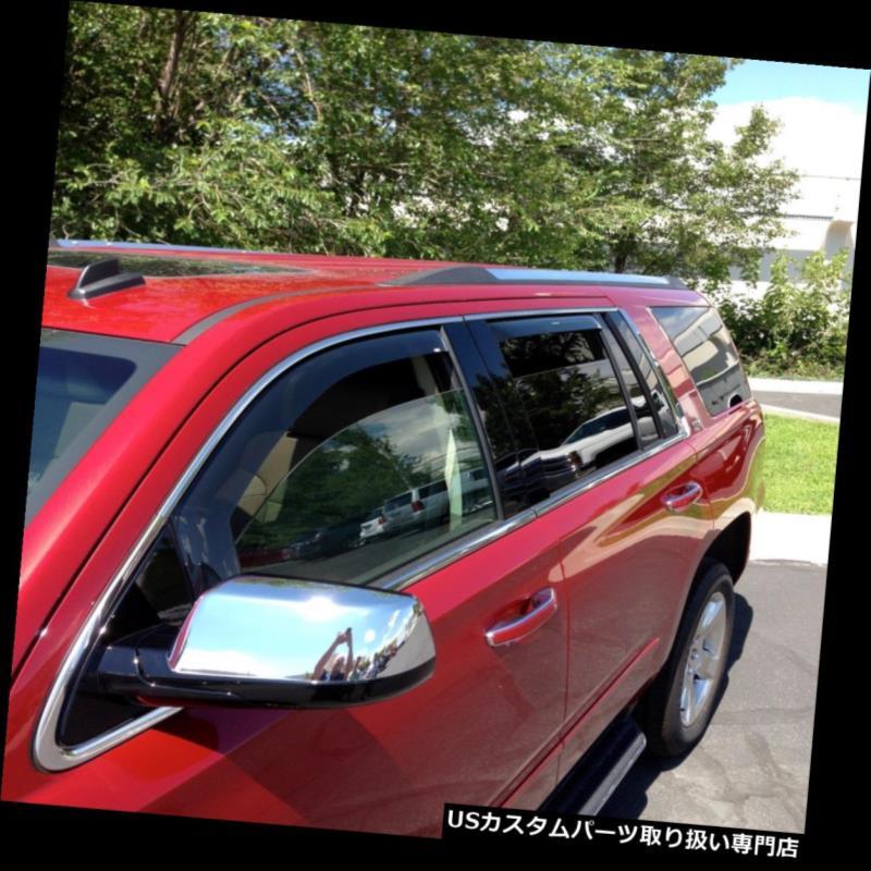 ベントバイザー ドアバイザー レインガード シボレータホ2015 - チャネルベントバイザーウインドディフレクターシェード4 pcでは2018年 Chevrolet Tahoe 2015 - 2018 In Channel Vent Visors Wind Deflector Shade 4 pc