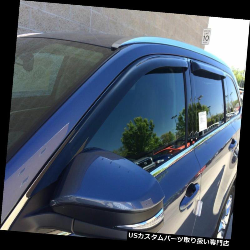 ベントバイザー ドアバイザー レインガード 2014 - 2017年のトヨタハイランダーのためのテープオンベントバイザー Tape-On Vent Visors for a 2014 - 2017 Toyota Highlander