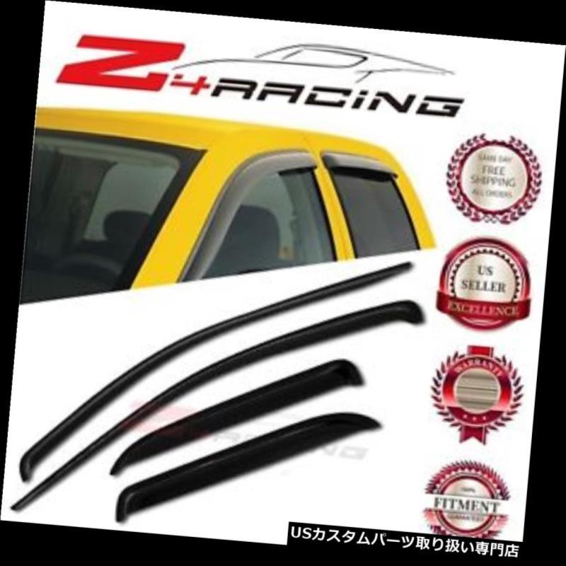ベントバイザー ドアバイザー レインガード 02-08 / 09ダッジラムクワッドクルーキャブベントシェードガードウィンドウバイザーデフレクター For 02-08/09 Dodge Ram Quad Crew Cab Vent Shade Guard Window Visors Deflector
