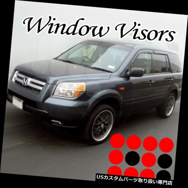 ベントバイザー ドアバイザー レインガード フィット09 10 11 12 13ホンダパイロットレインガードウィンドウバイザーウィンドデフレクター4ピース Fit 09 10 11 12 13 Honda Pilot Rain Guard Window Visor Wind Deflector 4pcs