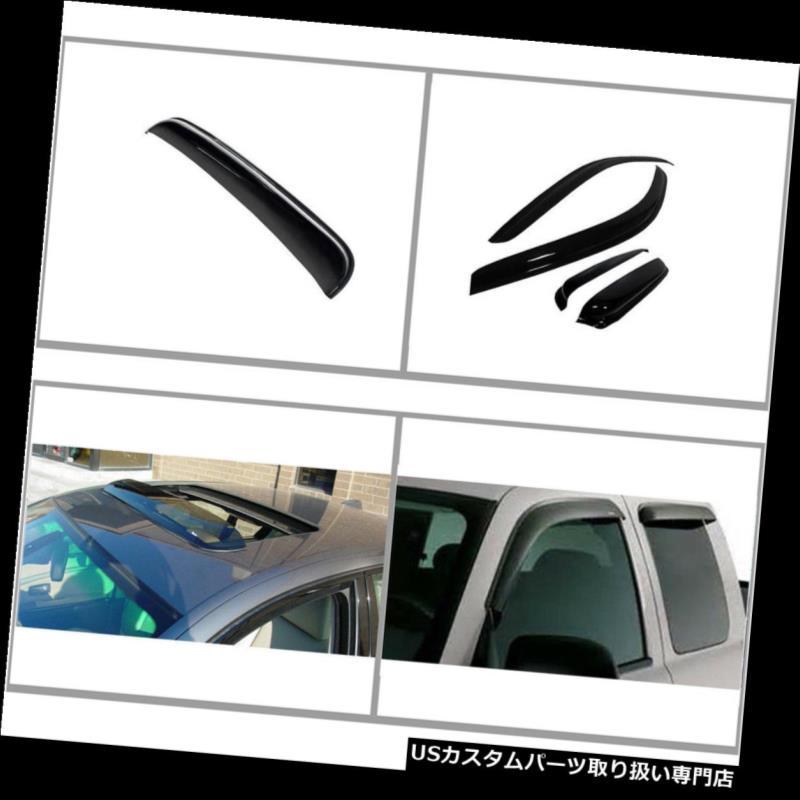 ベントバイザー ドアバイザー レインガード 04 - 08のフォードF - 150 Ext Cabの通気口の窓の日雨のデフレクター ムーンルーフ For 04-08 Ford F-150 Ext Cab Vents Window Sun Rain Deflectors Visors & Moonroof