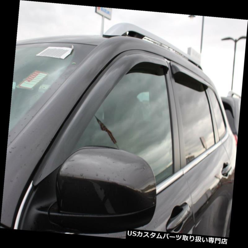 ベントバイザー ドアバイザー レインガード フィットジープチェロキー2014 - 2017年テープオンデフレクタベントバイザーシェード雨 Fits Jeep Cherokee 2014 - 2017 Tape-on Deflectors Vent Visor Shade Rain
