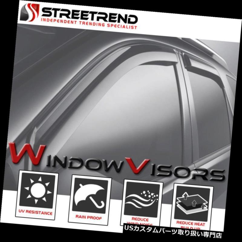 ベントバイザー ドアバイザー レインガード 1998-2003のためにダッジラムヴァンサン/レインガードベントシェードデフレクターウィンドウバイザー2P For 1998-2003 Dodge Ram Van Sun/Rain Guard Vent Shade Deflector Window Visors 2P