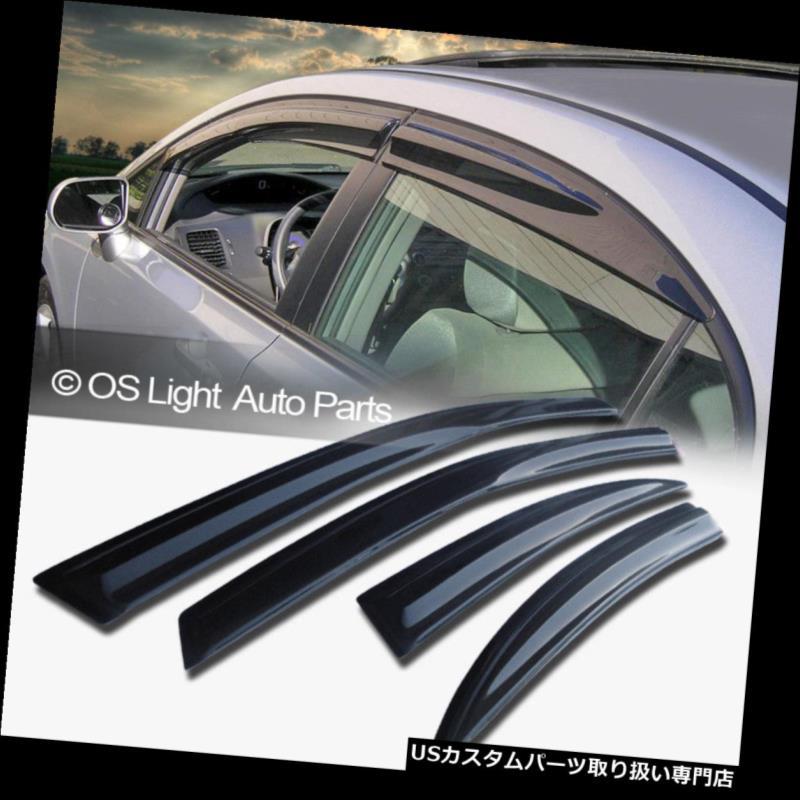 ベントバイザー ドアバイザー レインガード フィット10-15トヨタプリウスJDMスタイルウィンドウベントサンシェードレインガードバイザーXW 30 Fit 10-15 Toyota Prius JDM Style Window Vent Sun Shade Rain Guard Visors XW30