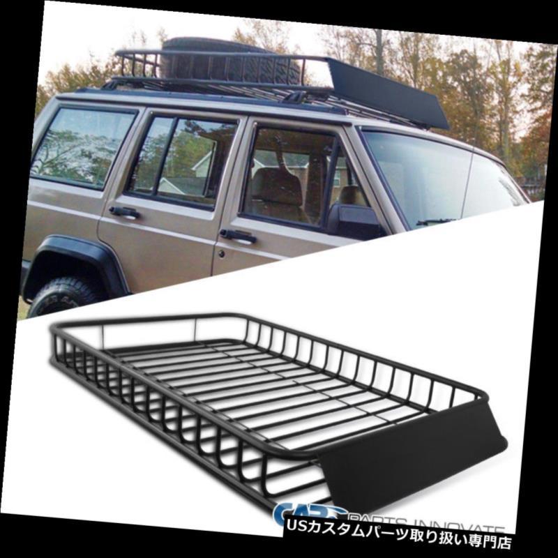 カーゴ ルーフ キャリア ユニバーサルカーSUVバントラベルホルダールーフラックトップラゲッジカーゴキャリアバスケット Universal Car SUV Van Travel Holder Roof Rack Top Luggage Cargo Carrier Basket