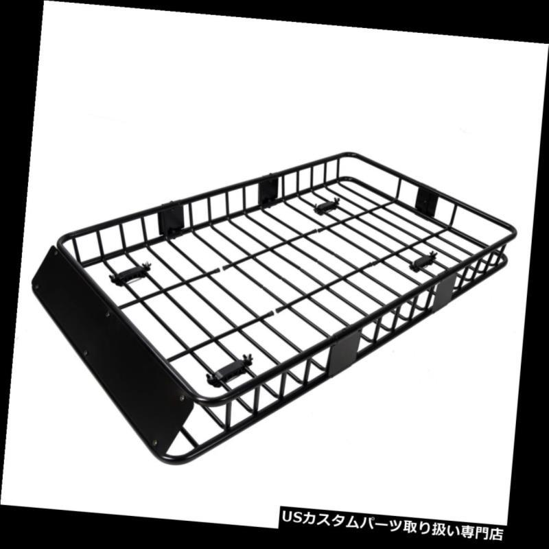 カーゴ ルーフ キャリア 64 'ユニバーサルルーフラック、エクステンションカーゴSUVトップラゲッジキャリアバスケットホルダー付き 64'' Universal Roof Rack w/Extension Cargo SUV Top Luggage Carrier Basket Holder