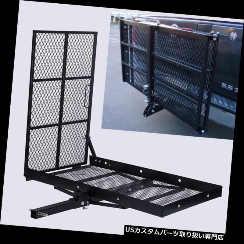 カーゴ ルーフ キャリア 車椅子用トレーラーヒッチキャリアスクーターモビリティ貨物キャリア(積荷ランプ付き) Wheel Chair Trailer Hitch Carrier Scooter Mobility Cargo Carrier w/Loading Ramp
