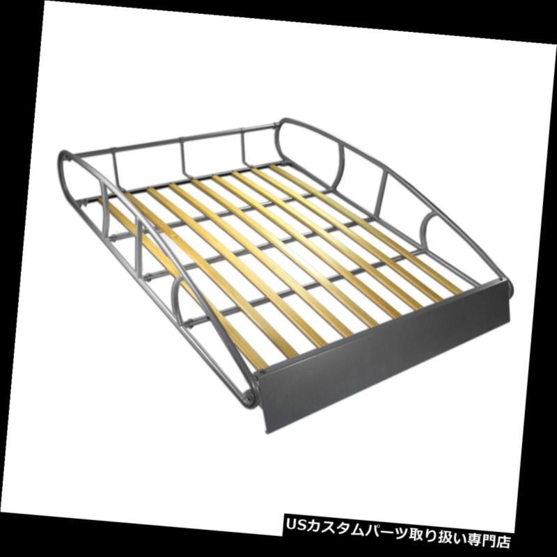 カーゴ ルーフ キャリア ユニバーサルルーフラックカーゴカートップラゲッジホルダーキャリアバスケットヴィンテージウッド Universal Roof Rack Cargo Car Top Luggage Holder Carrier Basket Vintage Wood