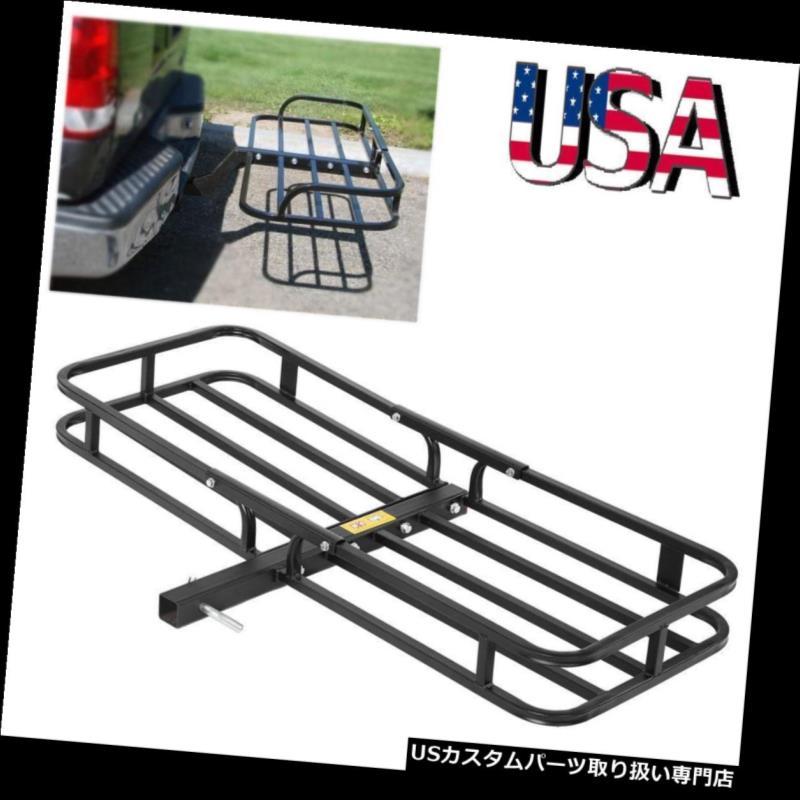 カーゴ ルーフ キャリア バスケットスタイルの貨物キャリアラック荷物バスケットヒッチマウントフィットATV車SUVトラック Basket-Style Cargo Carrier Rack Luggage Basket Hitch Mount Fit ATV Car SUV Truck