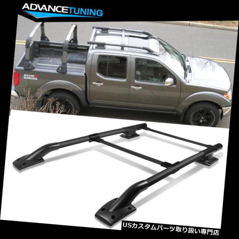 カーゴ ルーフ キャリア 05-17日産フロンティア4Dr OEスタイルブラックルーフラックレールSUVアルミにフィット Fits 05-17 Nissan Frontier 4Dr OE Style Black Roof Rack Rail SUV Aluminum