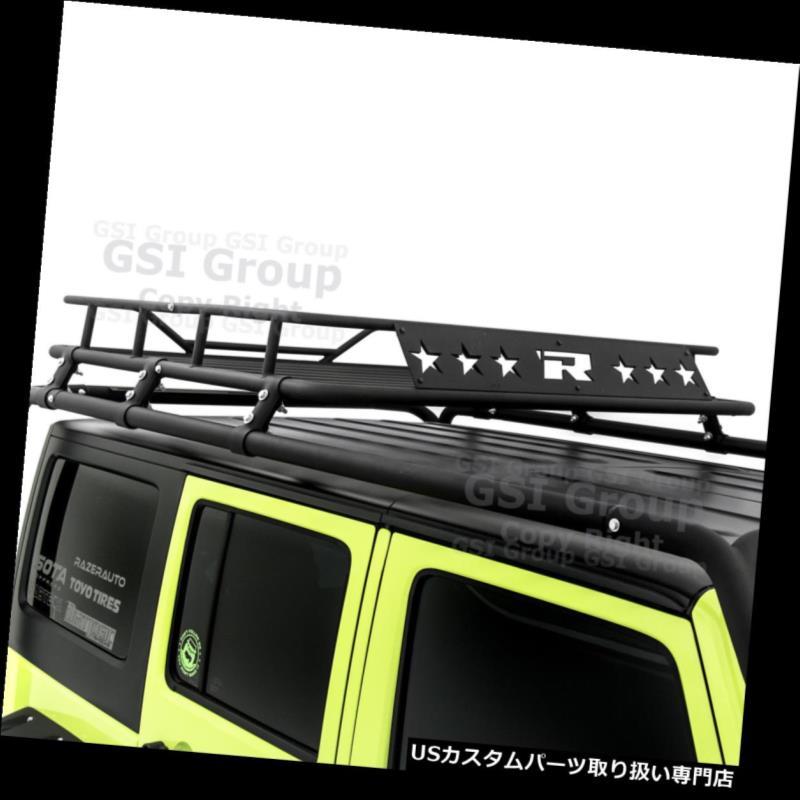 カーゴ ルーフ キャリア 07-18ジープラングラーJK 4ドア専用貨物ルーフラックシステムバスケット Cargo Roof Rack System Basket Only for 07-18 Jeep Wrangler JK 4 Door