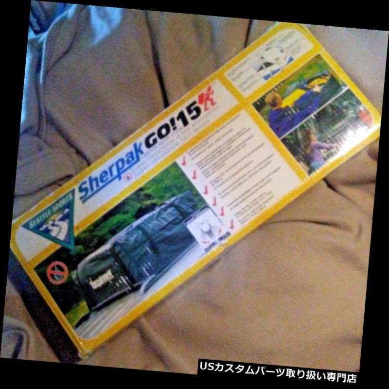 カーゴ ルーフ キャリア SHERPAK GO! 15防水カールーフトップ貨物荷物キャリアバッグトラベルストレージ SHERPAK GO! 15 Waterproof Car ROOF TOP CARGO LUGGAGE CARRIER BAG Travel Storage