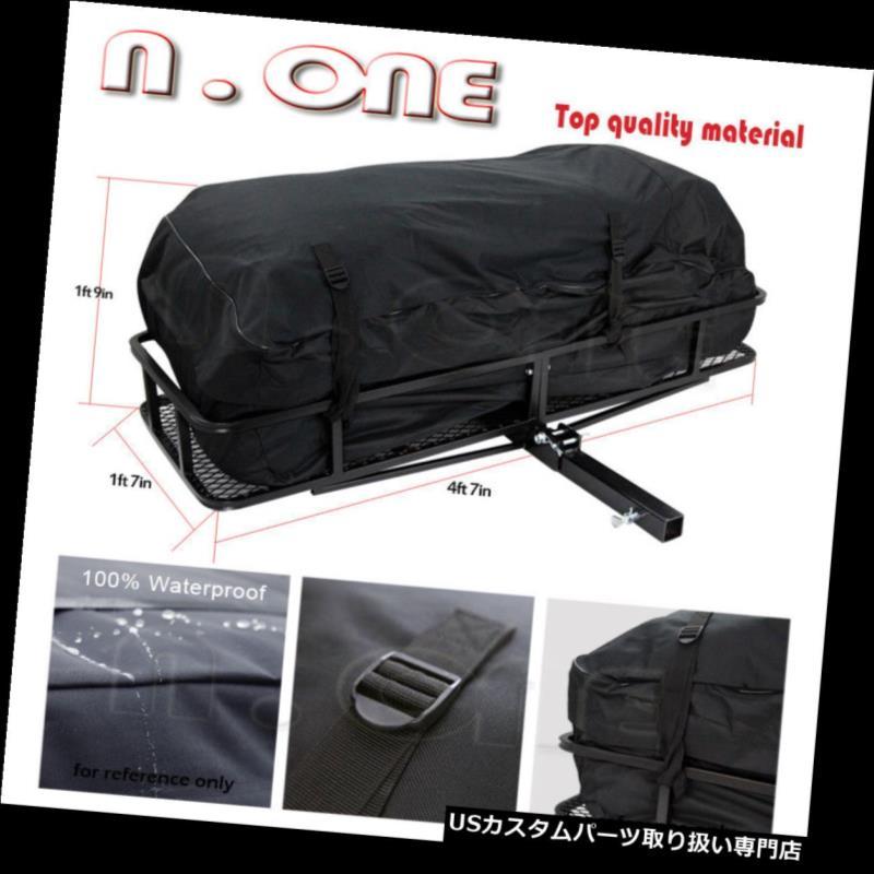カーゴ ルーフ キャリア リアヒッチバスケット荷物貨物キャリアホルダーラック収納コンボフィットBeetle.etc Rear Hitch Basket Luggage Cargo Carrier Holder Rack Storage Combo Fit Beetle.etc