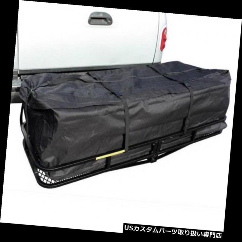 カーゴ ルーフ キャリア 500ポンド体重容量ヒッチマウント折りたたみ貨物収納ラックキャリアバッグ 500 Lbs Weight Capacity Hitch Mounted Folding Cargo Storage Rack Carrier Bag