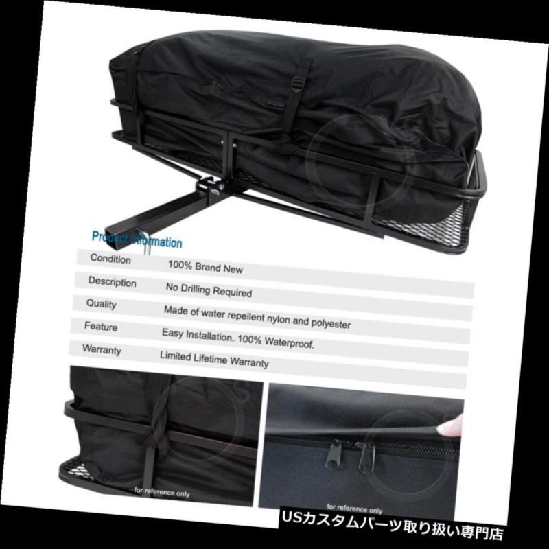 カーゴ ルーフ キャリア ユニバーサルテールヒッチマウントラック荷物かごカーゴキャリアストレージ& バッグ Universal Tail Hitch Mount Rack Luggage Basket Cargo Carrier Storage & Bag