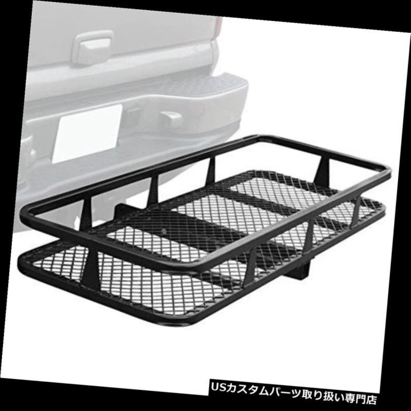 カーゴ ルーフ キャリア ヒッチマウント折りたたみ貨物キャリアバスケット荷物ラック Hitch Mounted Folding Cargo Carrier Basket Luggage Rack