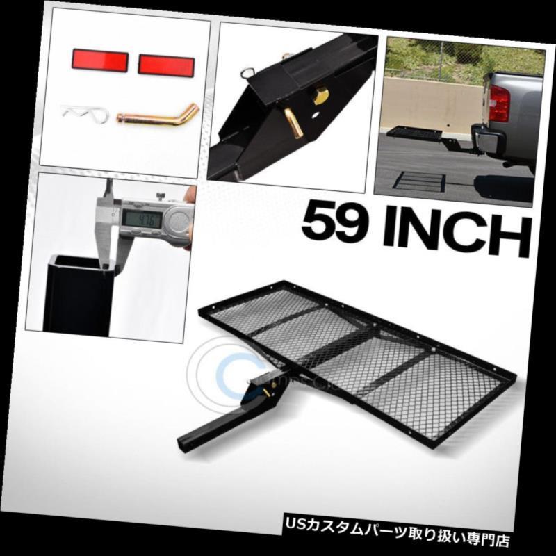"Blk Mesh Foldable Trailer Hitch Luggage Cargo Carrier Rack Hauler Basket 59/"" G20"