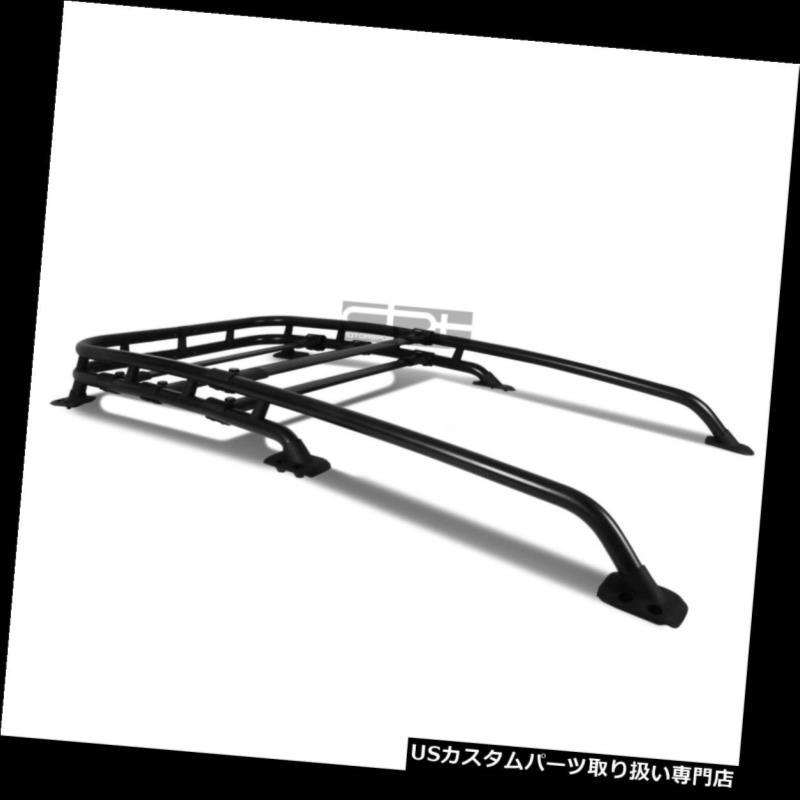 カーゴ ルーフ キャリア フィット07-14 Fjクルーザーブラックアルミ大江スタイルルーフラックトップ貨物荷物キャリア Fit 07-14 Fj Cruiser Black Aluminum Oe Style Roof Rack Top Cargo Luggage Carrier
