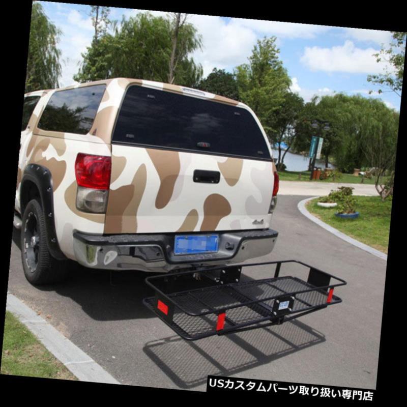 カーゴ ルーフ キャリア EZ-CC6009折りたたみヒッチマウント貨物キャリアマウントバスケット荷物ラック EZ-CC6009 Folding Hitch-Mount Cargo Carrier Mounted Basket Luggage Rack