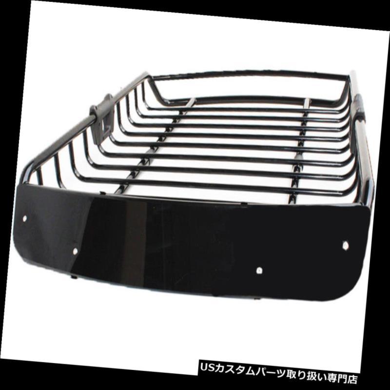 カーゴ ルーフ キャリア Techtongdaスチールルーフトップラックカーカーゴキャリアトラベリングバスケットブラック Techtongda Steel Roof Top Rack Car Cargo Carrier Traveling Basket Black