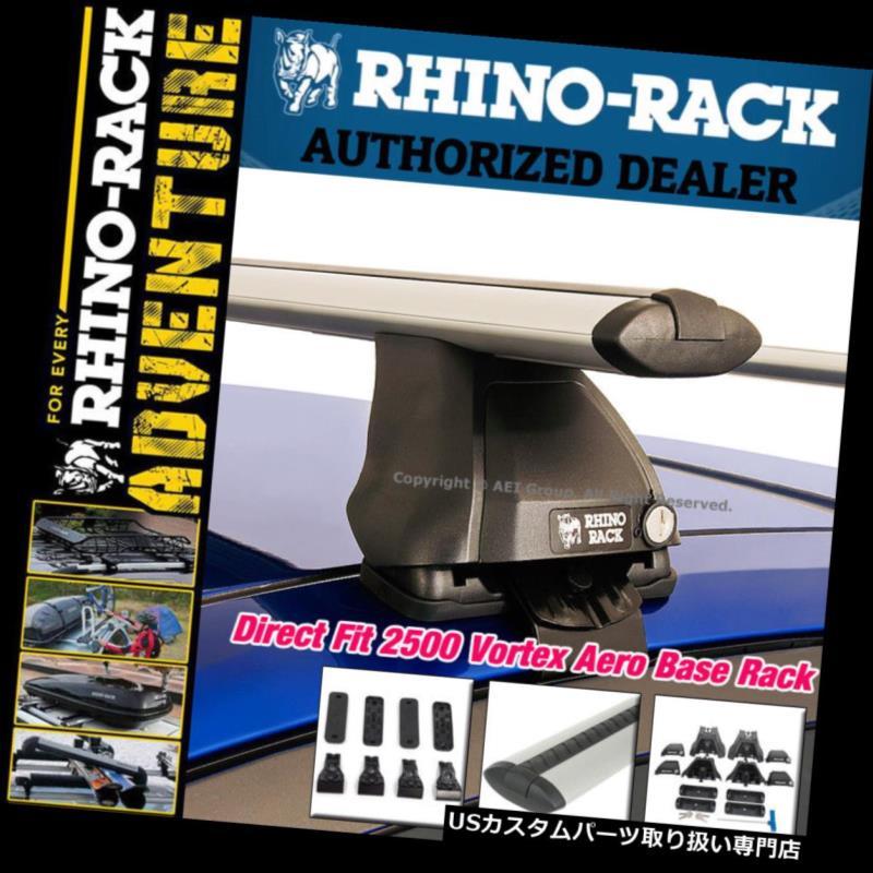 カーゴ ルーフ キャリア Rhinoラック2500ボルテックスエアロダイレクトフィットルーフラックキットシルバークロスバーJA2387 Rhino Rack 2500 Vortex Aero Direct Fit Roof Rack Kit SILVER Crossbars JA2387