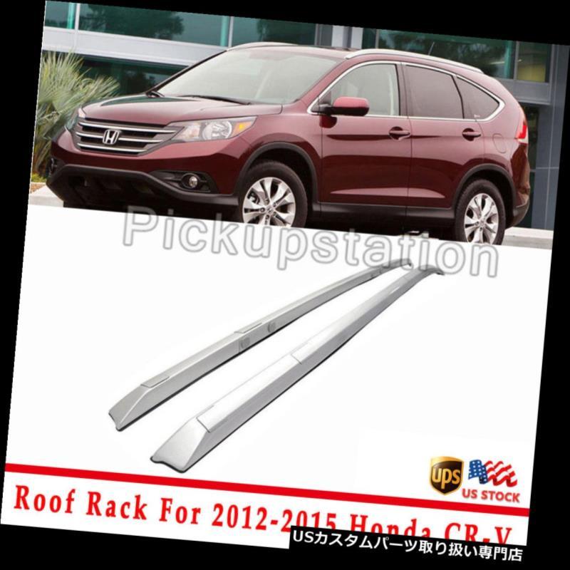 カーゴ ルーフ キャリア 2012-2015用13 14ホンダCRV CR-V OEスタイルトップルーフラックサイドルーフラックシルバー For 2012-2015 13 14 Honda CRV CR-V OE Style Top Roof Rack Side Roof Rack Silver